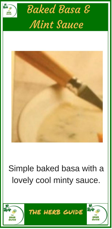 Basa Fish with Mint Sauce