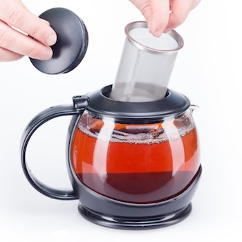 Glass Tea Pot with Mesh Infuser