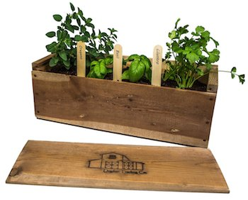 Indoor Wooden Herb Garden Planter Kit