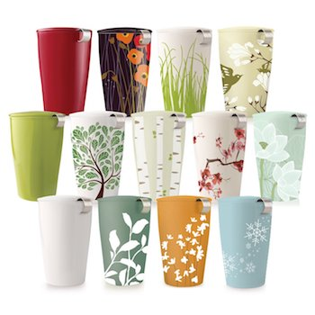 Ceramic Insulated Cup with Tea Infuser
